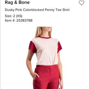 NWT Rag & Bone Colorblock Penny tee